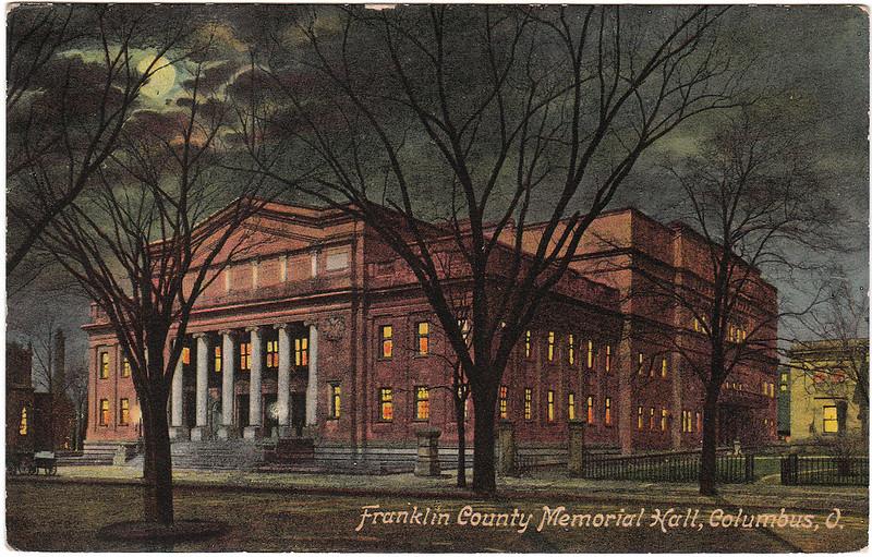 Franklin County Memorial Hall, Columbus, Ohio (1909)