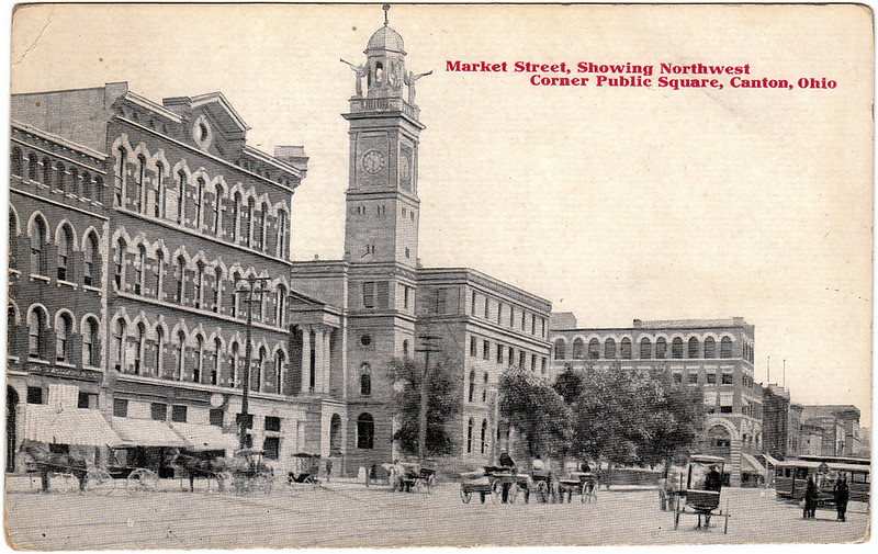 Market Street, Showing Northwest Corner Public Square, Canton, Ohio (Date Unknown)