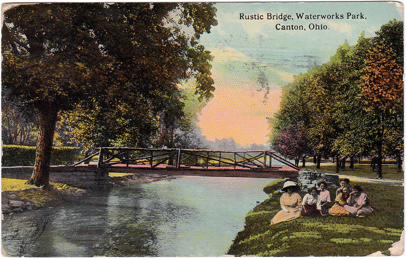 Rustic Bridge, Waterworks Park, Canton, Ohio (1914)