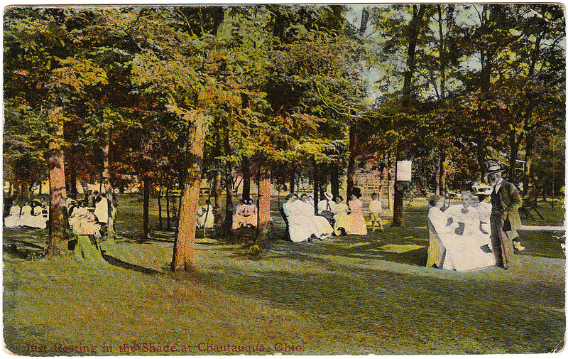 Just Resting in the Shade at Chautauqua, Ohio (1915)