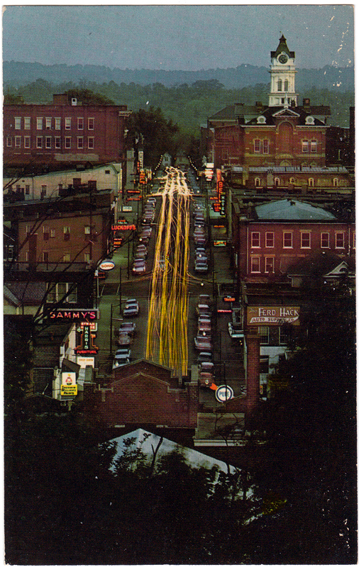 Court Street at Night, Athens, Ohio (1970s)