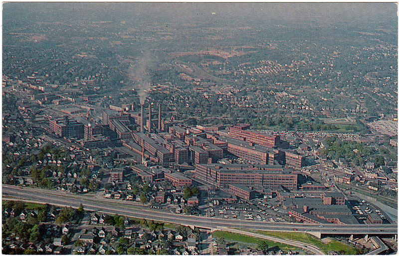 Aerial View of Goodyear Plant 1, Akron, Ohio (Date Unknown)