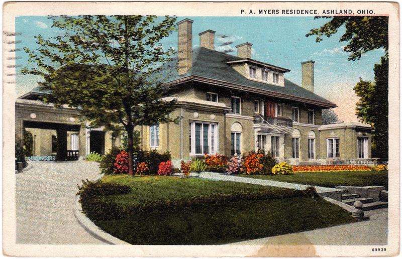 P.A. Myers Residence, Ashland, Ohio (1926)