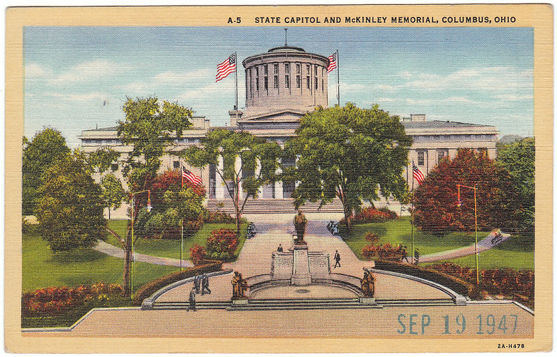 State Capitol and McKinley Memorial, Columbus, Ohio (1947)
