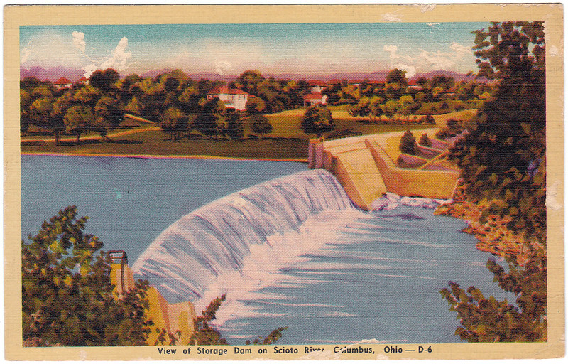 View of Storage Dam on Scioto River, Columbus, Ohio (Date Unknown)