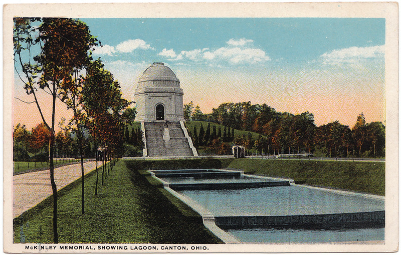 McKinley Memorial, Showing Lagoon, Canton, Ohio (1923)
