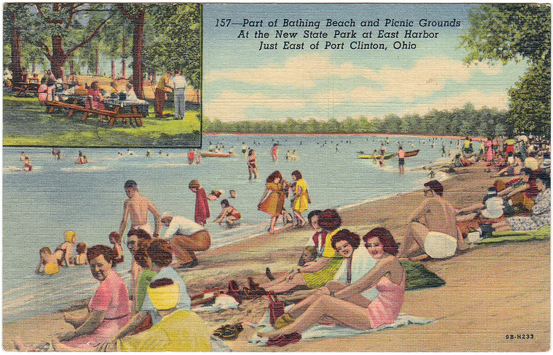 Part of Bathing Beach and Picnic Grounds at the New State Park at East Harbor, Just East of Port Clinton, Ohio (1952)
