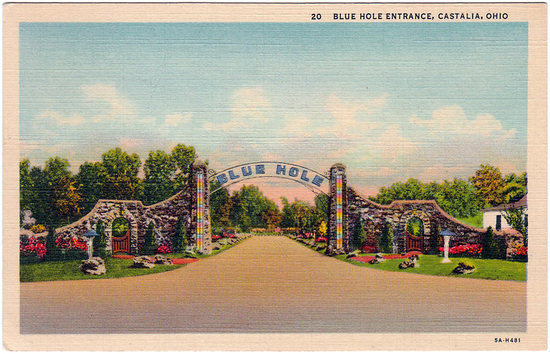 Blue Hole Entrance, Castalia, Ohio (1940)