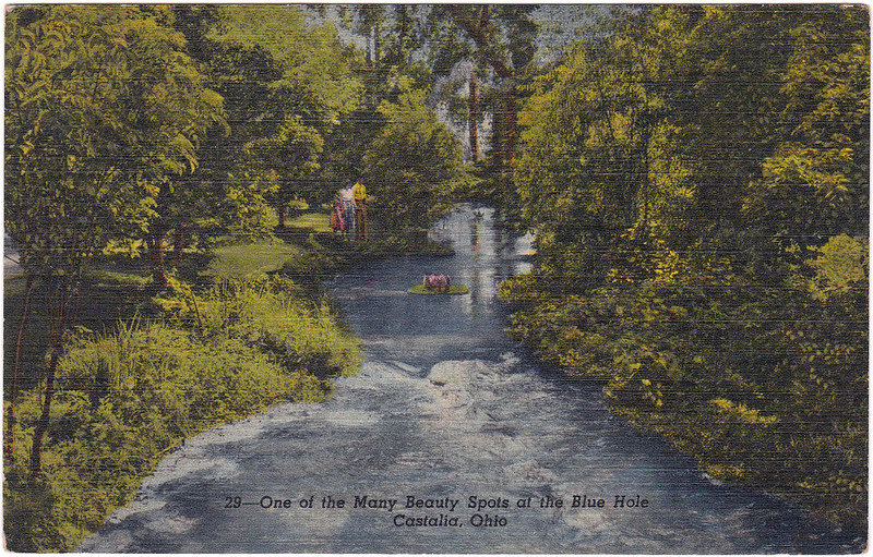 One of the Many Beauty Spots at the Blue Hole, Castalia, Ohio (Date Unknown)