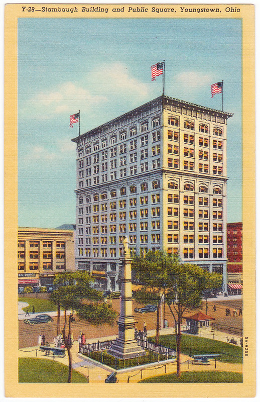 Stambaugh Building and Public Square, Youngstown, Ohio (Date Unknown)