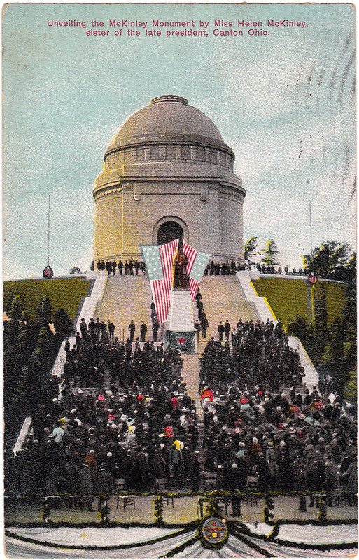 Unveiling the McKinley Monument by Miss Helen McKinley (1909)
