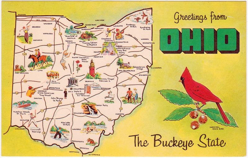 "Greetings from Ohio ""The Buckeye State"" (Date Unknown)"