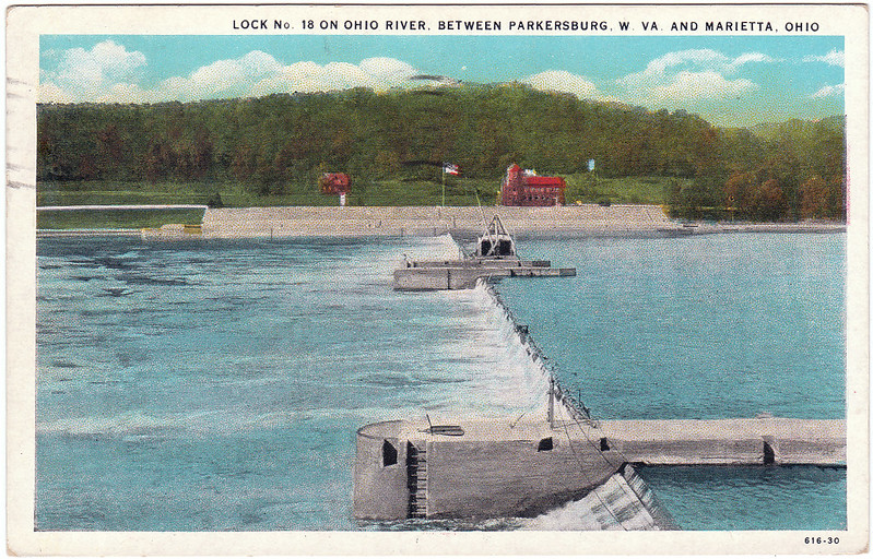 Lock No. 18 on Ohio River, Between Parkersburg, W. Va. and Marietta, Ohio (1931)