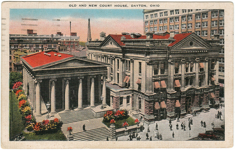 Old and New Court House, Dayton, Ohio (Date Unknown)