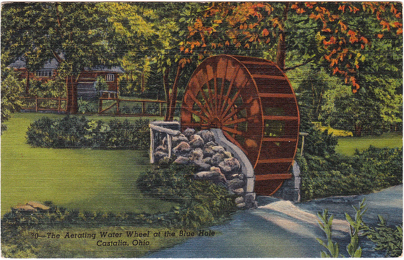 The Aerating Water Wheel at the Blue Hole, Castalia, Ohio (Date Unknown)