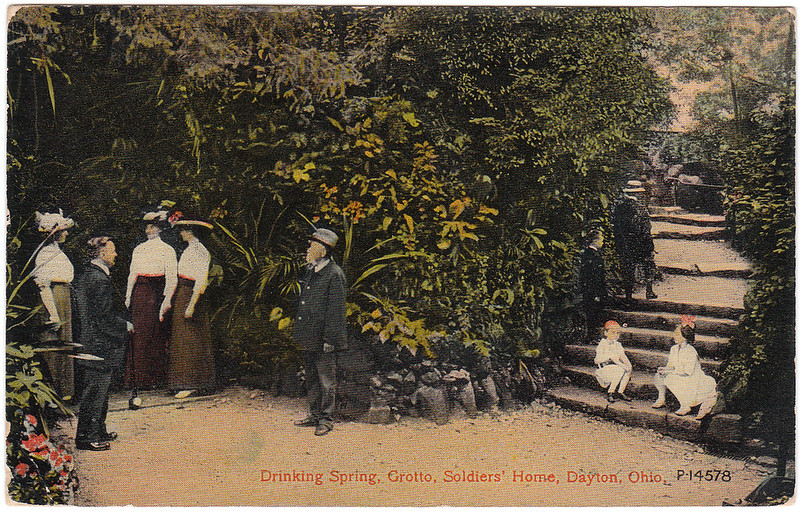 Drinking Spring, Grotto, Soldiers' Home, Dayton, Ohio (Date Unknown)