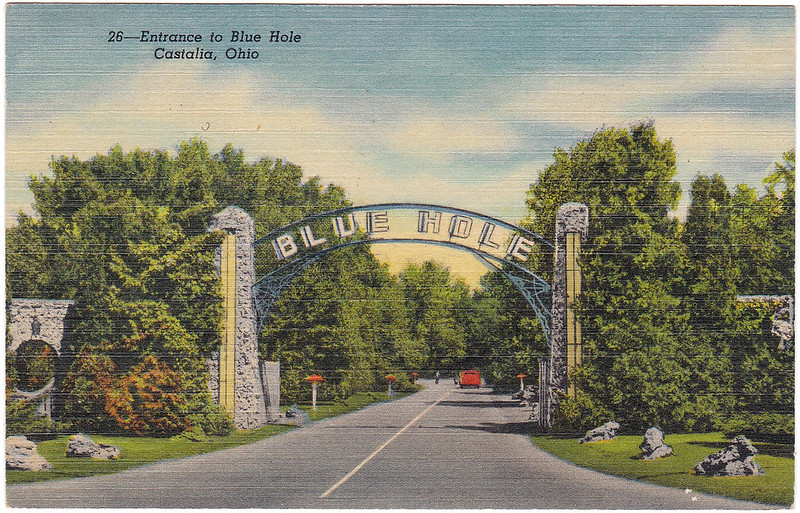 Entrance to Blue Hole, Castalia, Ohio (Date Unknown)