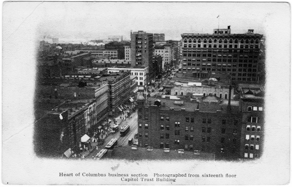 Heart of Columbus Business Section, Columbus, Ohio (Date Unknown)