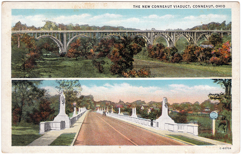 New Conneaut Viaduct, Conneaut, Ohio (Date Unknown)