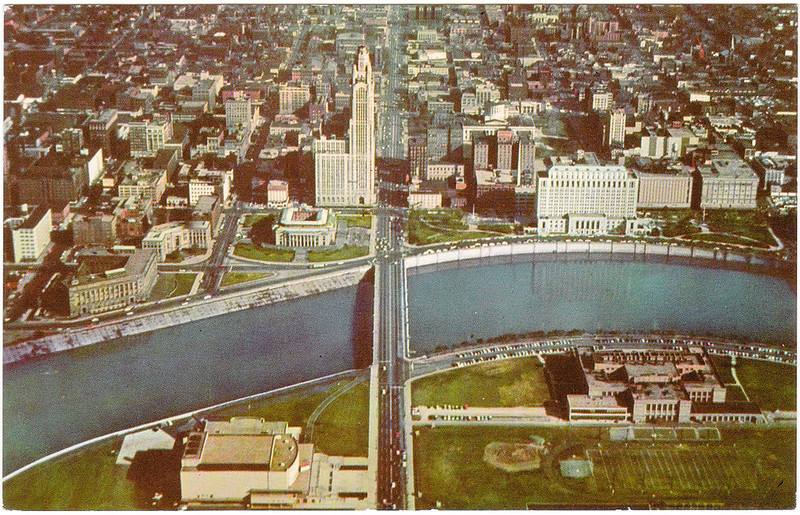 Skyline View of Columbus, Ohio (Date Unknown)