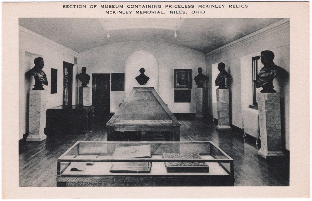 Section of Museum Containing Priceless McKinley Relics, McKinley Memorial, Niles, Ohio (Date Unknown)