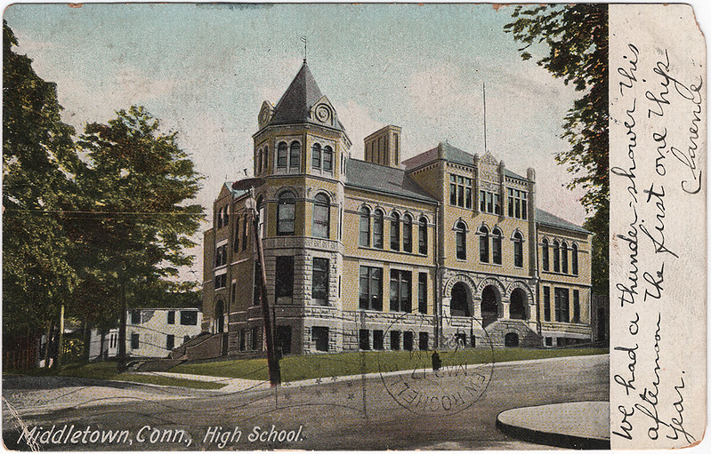 High School, Middletown, Connecticut (1908)